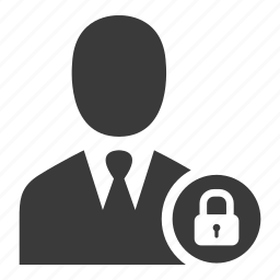 avatar, businessman, lock, protected, safe, secure, user icon
