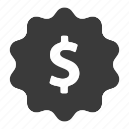 cash, currency, dollar, finance, label, money, price icon