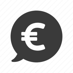 bubble, currency, euro, finance, money, price icon