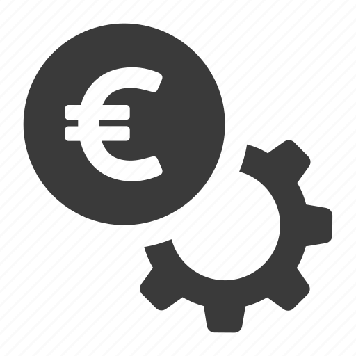 currency, euro, gear, money, options, payment, settings icon