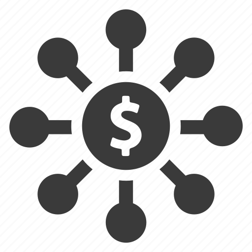 business, connection, dollar, finance, invest, investment, money icon