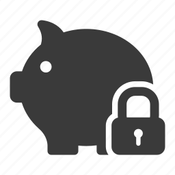 bank, finance, guardar, lock, money, safe, save, secure icon