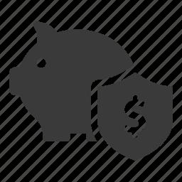 bank, finance, guardar, money, pig, safe, save, secure icon