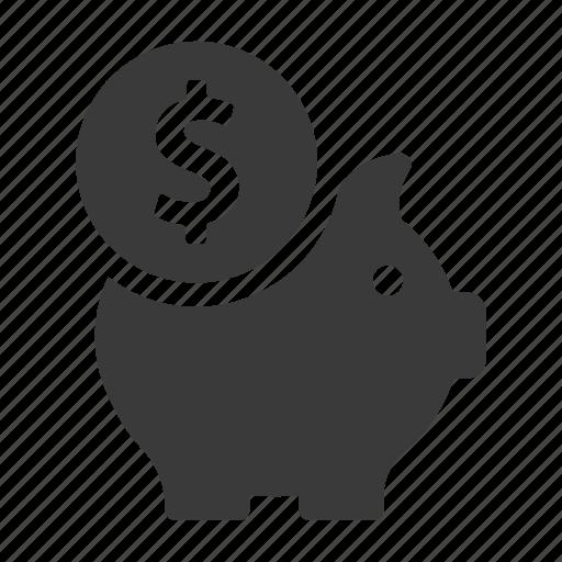 bank, finance, money, pig, piggy, save, savings icon