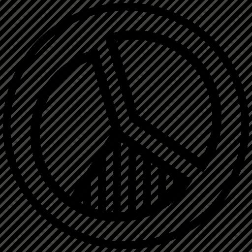 chart, donut, graph, pichart, profit icon