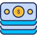 cruncy, dollar, money, note, revenue