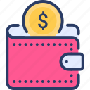 personal, personal wallet, purse, wallet icon