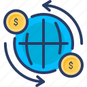 finance, global, global business, money icon