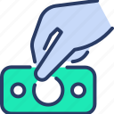 cash, hand, paying, payment icon