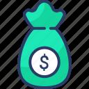 bag, finance, investment, money