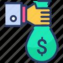 investment, money, money bag, sponsor