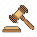 auction, business, court, hammer, law icon