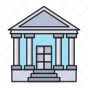bank, building, finance, money, saving icon