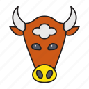animal, bull, business, face, finance icon