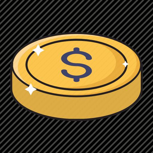 cash, coin, dollar, money, saving icon