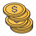 coins, currency, finance, money, saving
