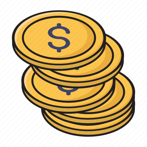 coins, currency, finance, money, saving icon