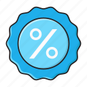 discount, finance, offer, percentage, sale icon