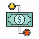 cash, dollar, finance, money, transfer icon