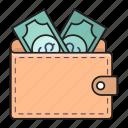 cash, dollar, money, saving, wallet icon