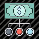 chart, connection, dollar, finance, money