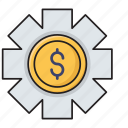 configure, dollar, finance, preference, setting