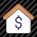 dollar, finance, house, money, saving