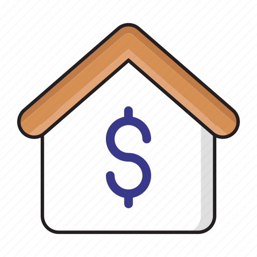 dollar, finance, house, money, saving icon