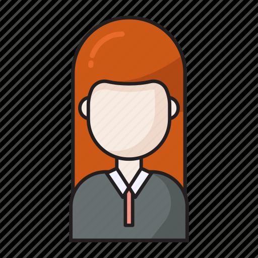avatar, employee, female, girl, user icon