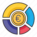 chart, euro, finance, graph, money icon