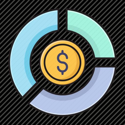 chart, dollar, finance, graph, statistics icon