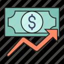 dollar, growth, increase, money, profit
