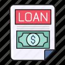 bank, document, file, finance, loan icon