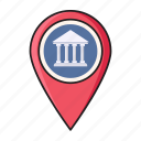 banking, location, map, marker, pin icon