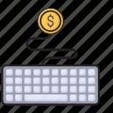 banking, business, finance, keyboard, online icon