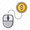 banking, business, finance, online, payperclick icon