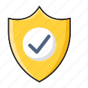 check, private, protection, security, shield icon