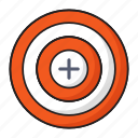 business, finance, focus, goal, target icon