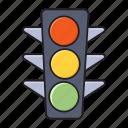 light, road, sign, signal, traffic icon