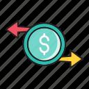 coins, dollar, exchange, money, transfer
