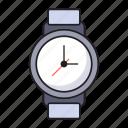 deadline, schedule, time, watch, wrist icon