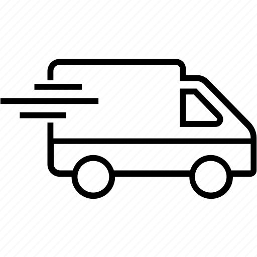 cargo, delivery truck, delivery van, logistics, transport icon