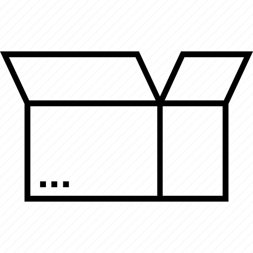 box, delivery box, logistics, open box, open package icon