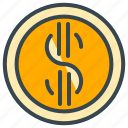 coin, cash, dollar, finance, money, payment