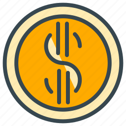 cash, coin, dollar, finance, money, payment icon