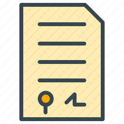 communication, contact, contract, document, finance icon