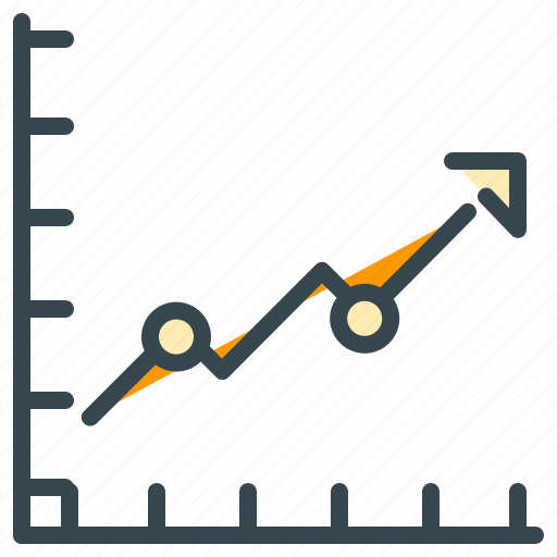 analytics, chart, diagram, finance, graph, increase, statistics icon