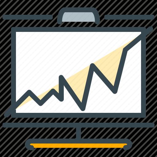 chart, diagram, finance, graph, presentation, report icon
