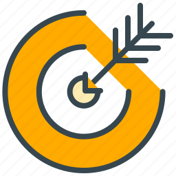 aim, business, finance, goal, marketing, target icon