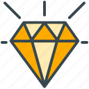 bank, banking, diamond, finance, value icon